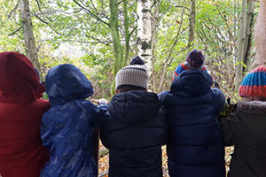 Children at forest school training in the north west