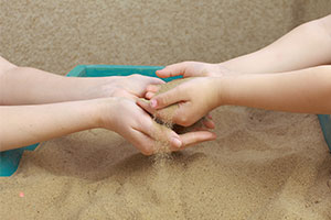 Play Therapy in sand box