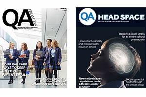 QA Education and Head Space magazines